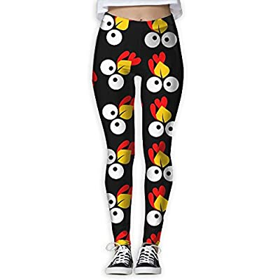 YDBM Cute Turkey Face Women's Printed Yoga Pants Elastic Tights Workout Running Leggings