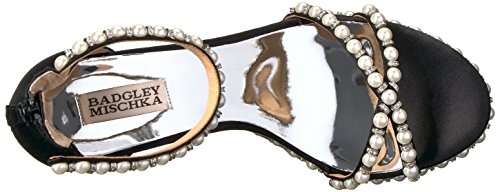 Badgley Mischka Womens Sloan Espadrille Wig Sandaal Zwart