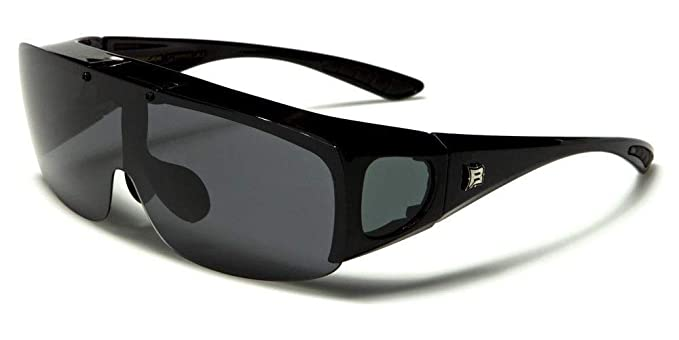d450c7693a3 Image Unavailable. Image not available for. Color  Black Frame Sunglasses  Polarized Fit Over Cover All Glasses Drive Fish ...