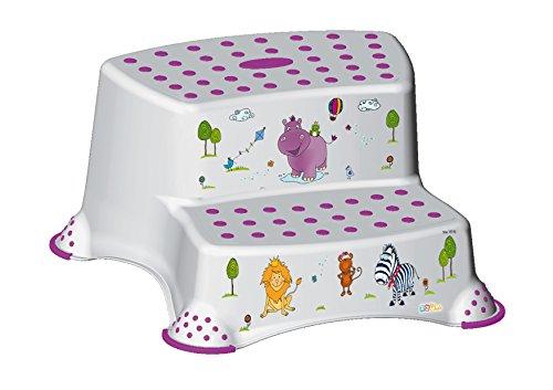 OKT Kids 10031100012 Tritthocker zweistufig Hippo, weiß