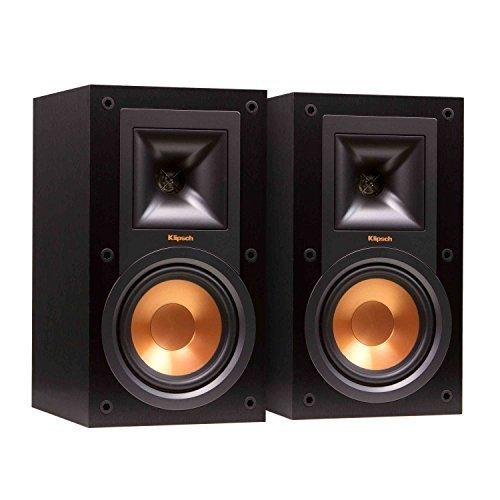 Klipsch R-15M Bookshelf Speakers and Powergate Amplifier Bundle, Black