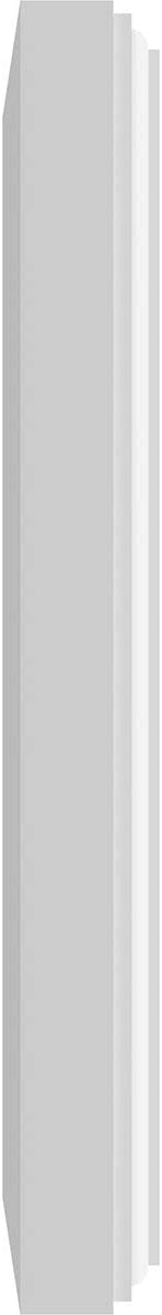 White 5W x 5H x 1//2P Ekena Millwork ROSP050X050X050SDG03-CASE-4 Rosette