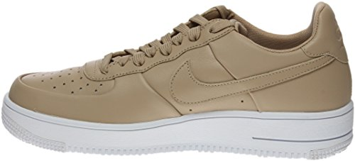 Nike Mens Air Force 1 Ultrakracht Leer Basketbal Schoen Linnen / Linnen / Wit