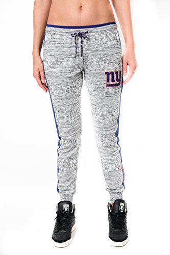 ICER Brands NFL New York Giants Women's Jogger Pants Active Basic Fleece Sweatpants, X-Large, Gray ()