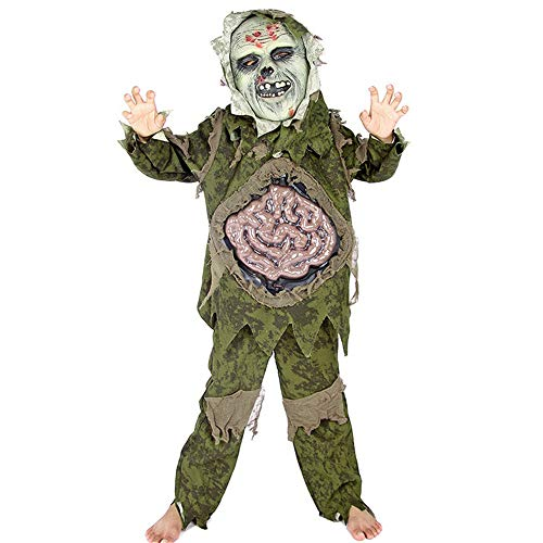 Child Classic Nightmare Before Halloween Costume Swamp Monsters Wear Scary Mask e.e. Clothing(XL(Height:55 -