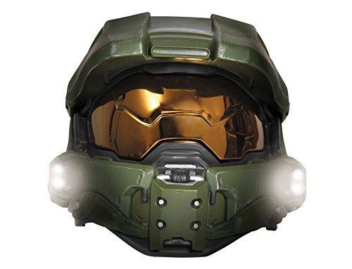 (Boy's Halo Game Master Chief Lightup Mask Child Halloween Costume)