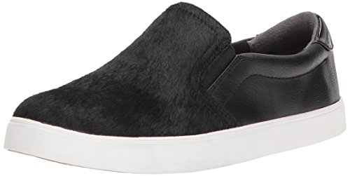 (Dr. Scholl's Shoes Women's Madison Fashion Sneaker, Black Pony Hair Leather, 6 M US)