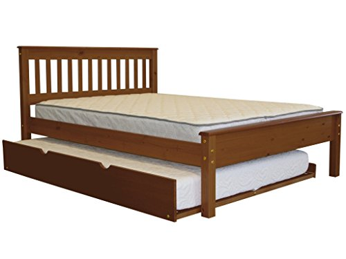 (Bedz King Mission Style Full Bed with a Full Trundle, Espresso )