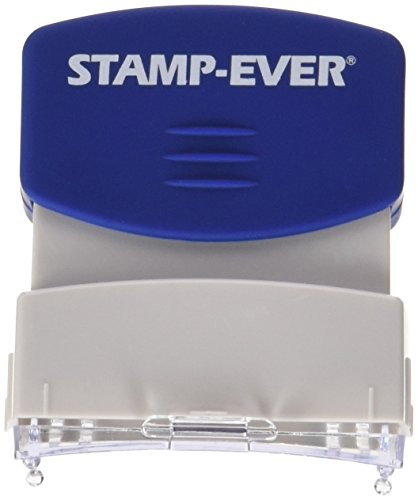 Stamp-Ever Pre-Inked Message Stamp, For Deposit Only, Stamp Impression Size: 9/16 x 1-11/16 Inches, Blue (5955)