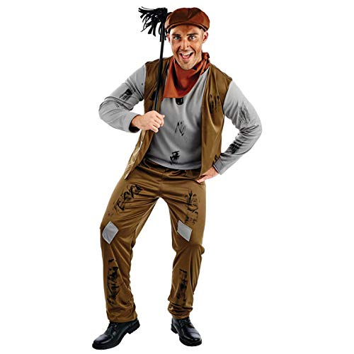 fun shack Mens Chimney Sweep Costume Adults Poor Victorian Sweeper Outfit - Large]()