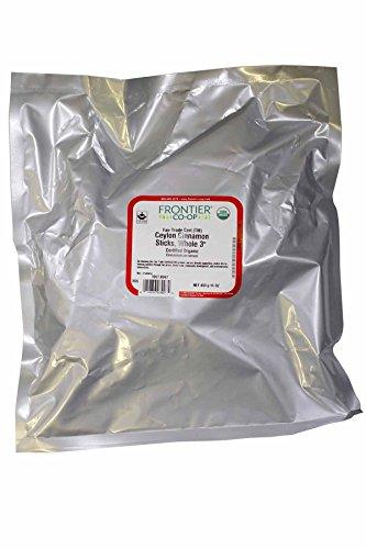 Cinnamon Sticks, Ceylon 3'' - Certified Organic Fair Trade Certified, 16 oz,(Frontier)