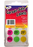 Pencil Grip The Classics Garage Sale Price Stickers, Yellow, Assorted Pricing, 12 Sheets 180 Count