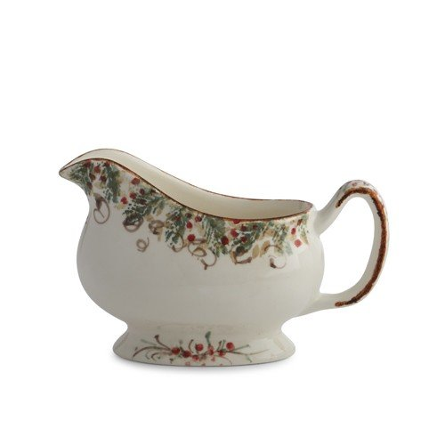 Christmas Holly Gravy Boats