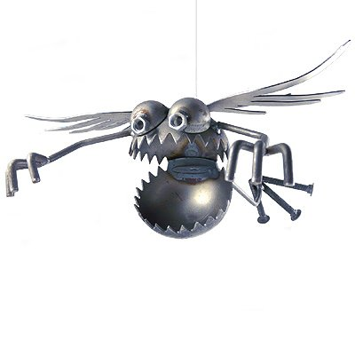 Gnome-Be-Gone With Wings Metal Sculpture