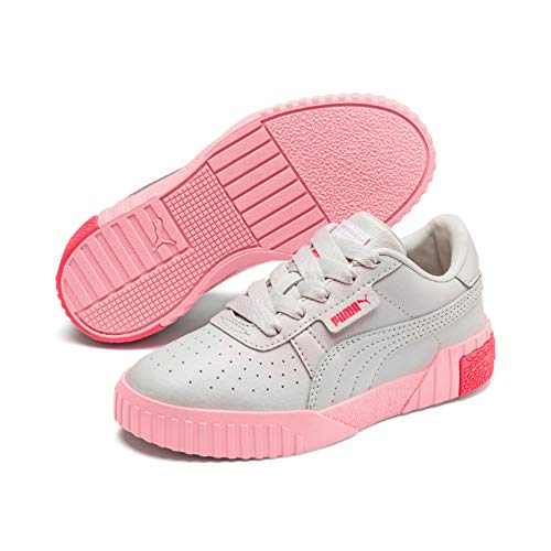Puma Cali Girls' Trainers Gray Violet-Calypso Coral 11.5_Infant