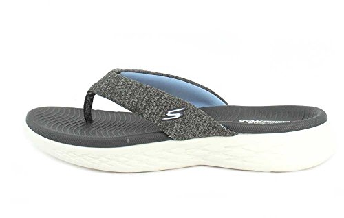Skechers 15306 Damen Blue Plateau Sandalen light Charcoal rUrnP