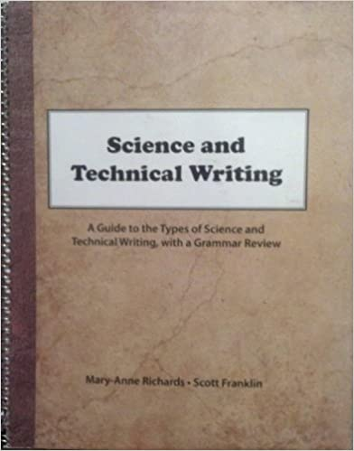 Science and Technical Writing: A Guide to the Types of
