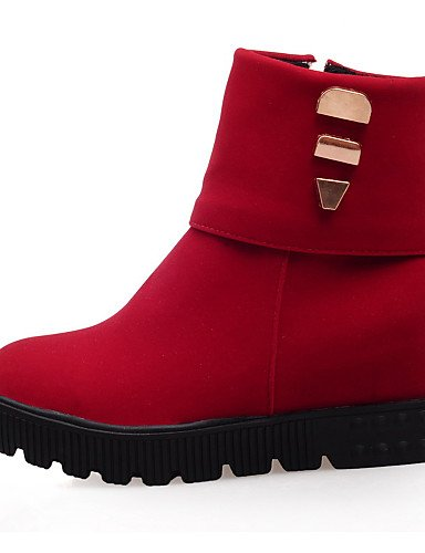 Vestido Botas Red Azul Cn43 Uk4 us10 5 Uk8 Plataforma Eu37 5 5 Zapatos 5 Sintético 5 Redonda Mujer Eu42 Rojo Punta Cn37 7 Black Ante us6 Negro Botines De Xzz q6078x