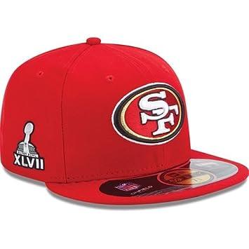 New Era NFL - Gorra conmemorativa de Super Bowl XLVII San Francisco 49ers  59FIFTY rojo Talla 7  Amazon.es  Deportes y aire libre de2fd6bdbc8