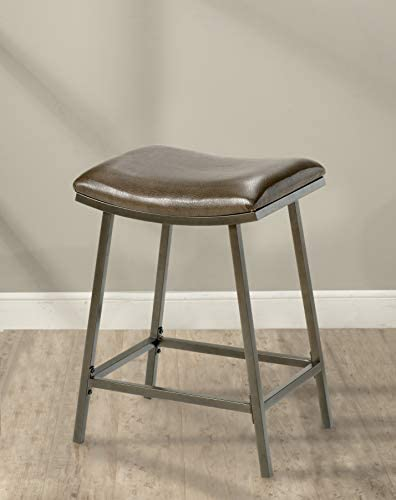Hillsdale Saddle Counter Adjustable Stool