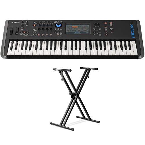 Yamaha MODX6 61-Key Synthesizer (with Double braced Keyboard Stand)