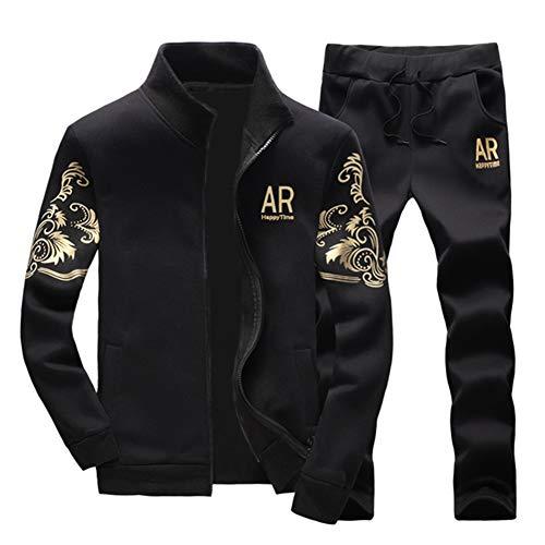 Manches Noir Sport Ensemble Pantalon Homme Survêtement Jogging Longues shirt Veste De Sweat q6CzPRCw