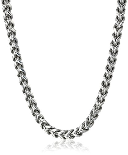 Men's Stainless Steel 6mm Foxtail Chain Necklace, 22""
