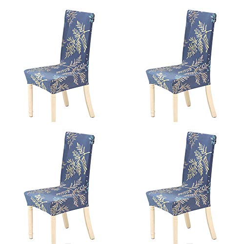 Fern Slipcover - Spendex Dining Chair Slipcovers - 4 Pack Removable Dining Chair Covers Wrinkle and Stain Resistant Chair Protector Fitted Stretch Cushion Covers for Dining Room,-Ferns