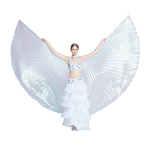 Dance Fairy Colorful Belly Dance Isis Wings with (Iridescent Fairy Wings)