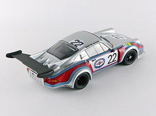 Norev - 187424 - Porsche 911 RSR Turbo 2.1 - Le Mans 1974 - Escala 1/18 - Plata/Rojo/Azul: Amazon.es: Juguetes y juegos