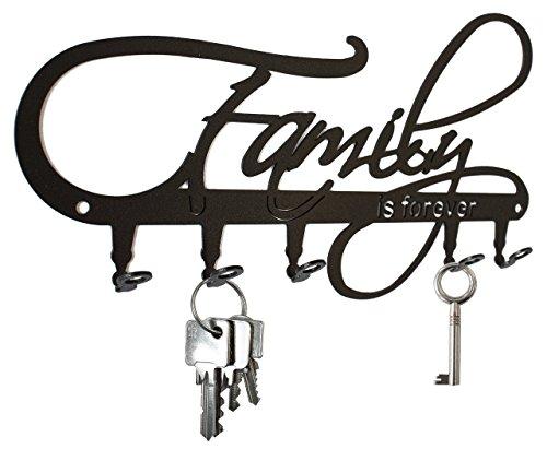 Family Is Forever Wall Key Holder Hooks Design
