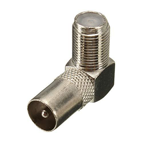 Ochoos - Cable coaxial RF F hembra a conector macho de TV a ...