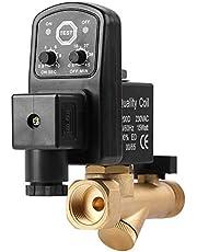 Wacent Automatisk elektronisk tidsinställd dräneringsventil, hållbar ventil G1/2 DN15 för kondensathantering av luftkompressor (AC230V)