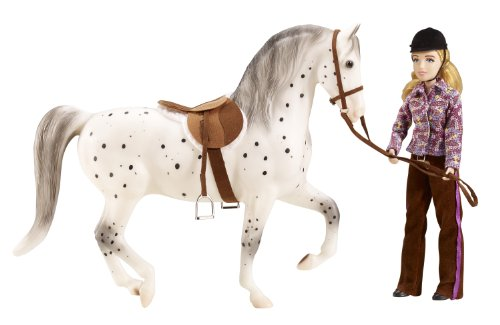 """Breyer """"Let's Go Riding"""" English - Traditional Toy Horse Model with Rider (Colors May Vary)"""
