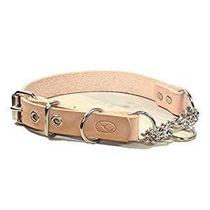 sleepy pup Adjustable Leather Martingale Chain, Limited Slip, Half-Check Chain, Training Dog Collar - Made in Virginia 17