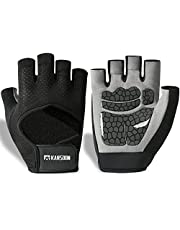 KANSOON Ecotechnology Workout Gloves, Best Exercise Gloves for Weight Lifting, Cycling, Gym, Training, Powerlifting, Hanging, Breathable & Fingerless, for Men & Women