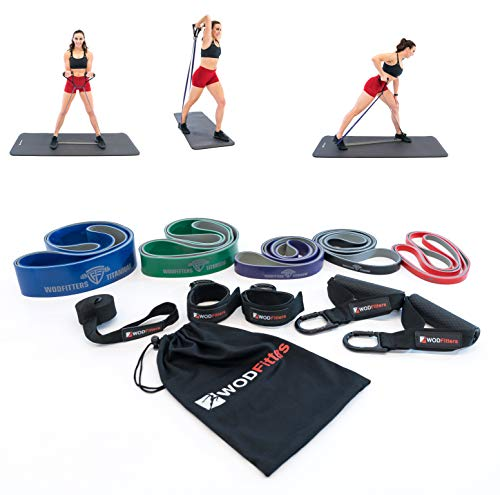 WODFitters Portable Home Gym with Resistance Bands - Full Body Workouts for Home, Travel - Equipment to Workout Any Time, Any Place