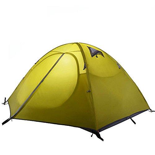 申し込む一過性冷ややかなキャンプテント, テント 2人用 アルミポールテント 二重層 防水 キャンプ 登山 旅行 アウトドア テント ポータブル