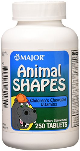 Major Pharmaceuticals 700665 Animal Shapes Children's Chewable Vitamin Tablet, Compare to Flintstones (Pack of 250)]()
