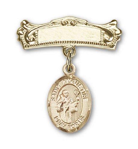 Icecarats Or Bijoux De Créateurs Rempli R. Charme Augustine Broches Badge Arc 7/8 X 3/4