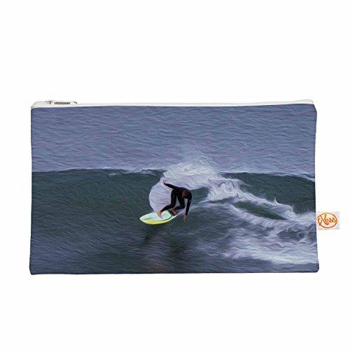 Kess eigene 12,5x 21,6cm Nick nareshni Surfer Ride Alles Tasche–Blau/Weiß