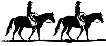 Personalized car stickers Pegatinas de coches divertidos van vaquero montar a caballo y accesorios de estilo vaquera PVC decals motocicleta, 16cm * 6cm csfssd (Color Name : Black)