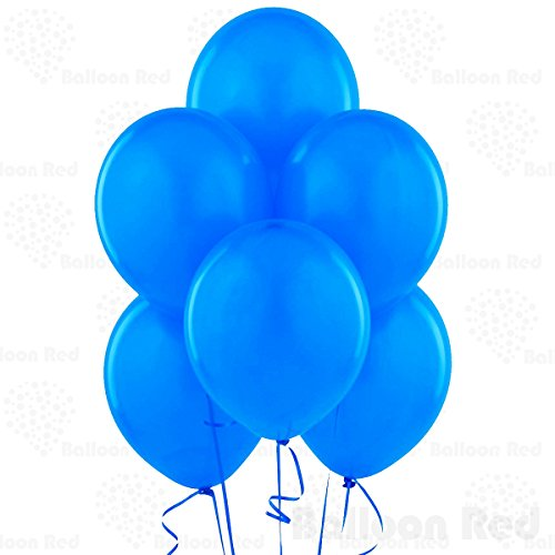 12 Inch Latex Balloons (Premium Helium Quality), Pack of 24, Blue