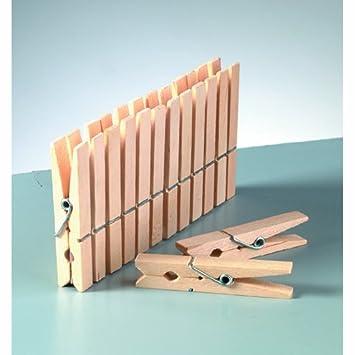 50 Stk Wascheklammer Holz 72 Mm Stabil Bruchsicher Nichtrostend