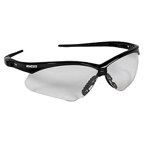 Jackson Safety V30 Nemesis Safety Glasses (25679), Clear Anti-Fog Lens with Black Frame,(Pack of 12)
