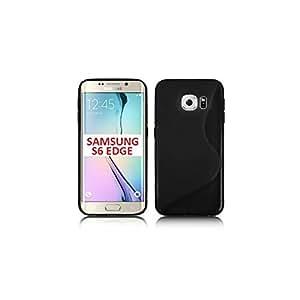 Funda Doble Silicona Tpu Para Samsung Galaxy S6 Sm-Edge G925, Color Negro