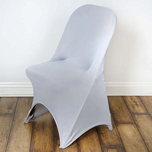 Efavormart 50pcs SLEEK Spandex Folding Chair Cover For Wedding Event Party - Silver by Efavormart