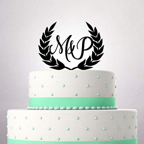 Decoración para tarta de boda con inicial de Mr y Sra. Joven ...