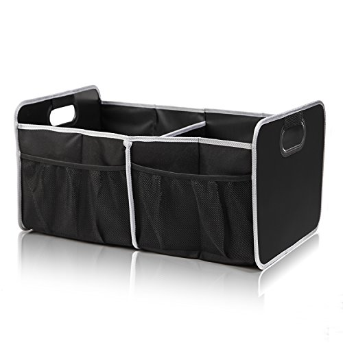 Car Trunk Organizer - Premium Water Resistant Grocery Storage Bag with Strong Handles