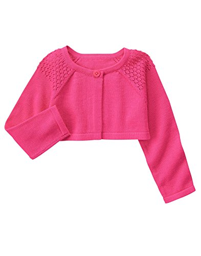 Gymboree Baby Toddler Girls' Sweet Little Sweater, Babydoll Pink, 5T